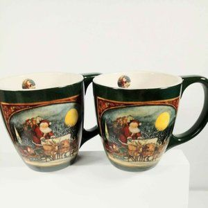 Set of 2  S. Winget Up on the House Top Coffee Mug